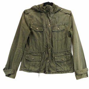 Aritizia Talula army green utility denim jacket